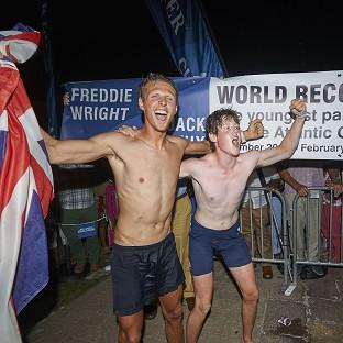 Atlantic Challenge Britons become youngest pair to row across ocean